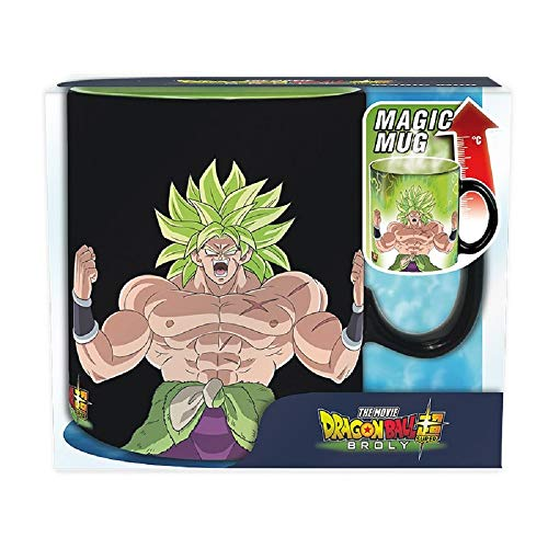 Dragonball Super - Taza de café de 460 ml - Broly Vs Gogeta - Efecto térmico - Caja de regalo
