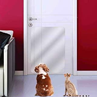 IN HAND Clear Door Scratch Protector, Deluxe Pet Door Scratch Shield Protect Your Doors & Walls, Heavy Duty Flexible Door Guard Cover