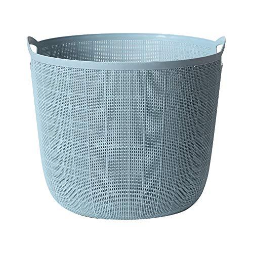 Laundry Basket Canasta de lavandería Canasta de lavandería de plástico para el hogar Canasta de Almacenamiento de desechos de Juguete a Prueba de Humedad a Prueba de Moho y fácil de Limpiar