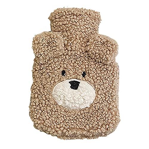 EESLL Hot Water Fles met Leuke Bear Pluche Cover,Siliconen Hot Water Fles, Hot Water Bag, Hand Warmer, Water Vulling Bag…