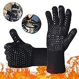 iToncs Grillhandschuhe Grill Ofenhandschuhe, Hitzefeste BBQ Handschuhe Topfhandschuhe 500°C/932°F Anti-Rutsch KochenHandschuhe Silikon Küchenhandschuhe für BBQ, Kochen, Backen, Schweißen (1 Paar)