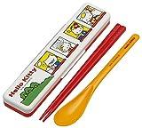 Sanrio Chopsticks & Spoon Combi Set w/ Case set Hello Kitty House 18cm CCS3SA from Japan