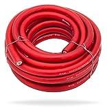 InstallGear 1/0 Gauge Red 25ft Power/Ground Wire - OFC (99.9% Oxygen-Free Copper)