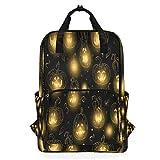 ハロウィーンの夜ショルダーバックパックおむつドクターバッグ旅行デイパック学生ブックバッグ用女性男性女の子