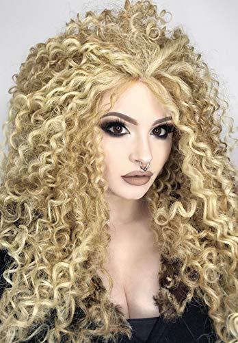 Lange Afro Perücke mit Locken in Hell Blond| Spitzen Front Queen B Perücke | Im Stil von Beyonce| 3 Farben