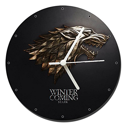 MasTazas Juego De Tronos Game of Thrones Stark Reloj de Pared Wall Clock 20cm
