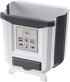 AOOPOO Cocina Cubo de Basura 9L Basurero Plegable Bote de Basura Colgante Cubo para Cocina Basura Extraible Pequeño para ...
