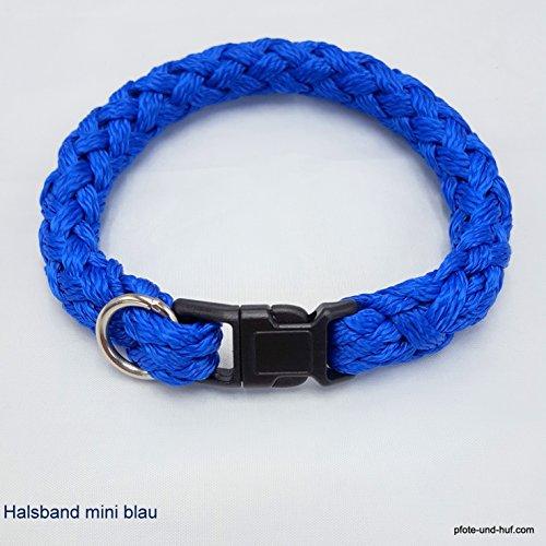 elropet Hundehalsband Mini für die Kleinen rundgeflochten Tauwerk blau (34cm)
