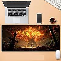 World of Warcraft超大型 游戏鼠标垫 防水 耐久性 桌垫 大型鼠标垫 900*400*3毫米 大型 桌垫 防滑 时尚 耐洗表面 可自由操作 大理石-D_800*300*3MM