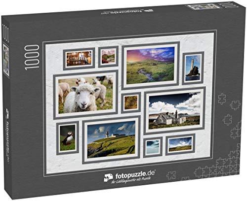 fotopuzzle.de 1000 Teile Puzzle Collage Irland - klassisches Puzzle als Foto-Collage mit 11 Irland-Bildern