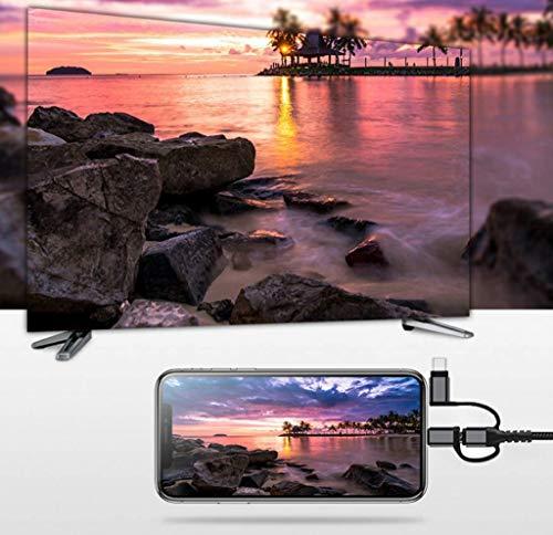 Cable Adaptador HDMI 3 en 1, iluminación/Tipo-C/Cable Micro USB a ...