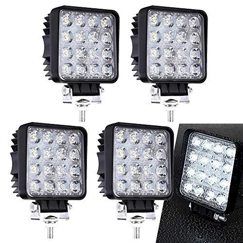 4 Stück LED Arbeitsscheinwerfer Zusatzscheinwerfer Arbeitslicht 48W Scheinwerfer Arbeitsleuchte 6000K Offroad Flutlicht