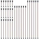 GTIWUNG 30 Pezzi Servo di Estensione per RC, 100mm/150mm/300mm/500mm/600mm Servo Extension Cable, 3 Pin Maschio RC Servo Cavo, Servo Filo di Estensione JR Connettore Spina per RC Aereo