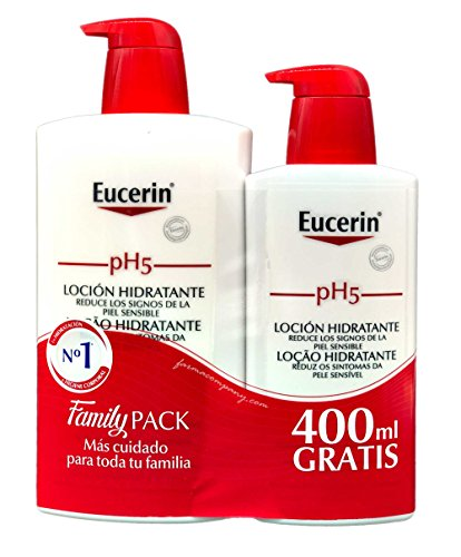 Eucerin Family Pack Ph5, Locion 1000 ml y Locion 400 ml, total 1400 ml
