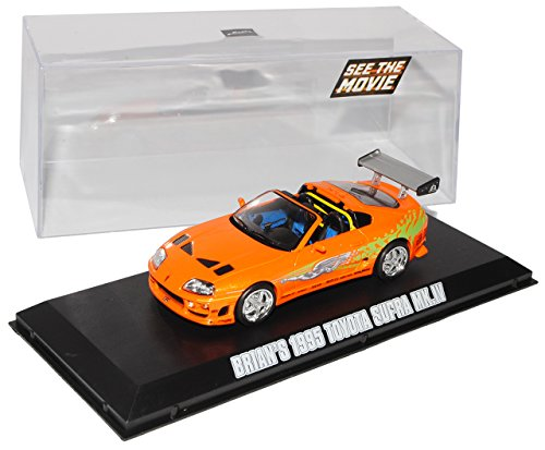 Greenlight Toyota Supra MKIV Orange Ab 1993 Fast and Furious 2001 1/43 Modell Auto