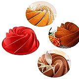 Molde para tartas, molde de silicona antiadherente, molde de libra para el hogar, cocina, hornear, pasteles, pan (color al azar)