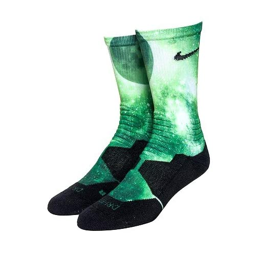 4e1cb3c58ccd Nike Hyper Elite Digital Ink KD Kevin Durant Crew Basketball Socks (Green  Black)