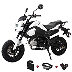 125cc Vader Gas Motorcycle. Every package comes with Gloves, Goggle and Face Mask. Front and Rear Disc brake supply strong, reliable stopping power. 120/70-12 front and 130/70-12 rear tires offer great traction. Large headlight and taillight maximize...