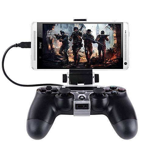 KONKY Support Telephone pour Manette PS4 Support Clip compatible avec Téléphone Samsung Sony Hauwei HTC LG