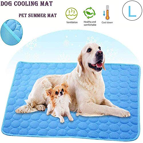 Wondery Dog Cooling Mat, Pressure Activated Comfort Cooling Gel Pet Pad Mat, for Large Pets, Washable Dog Cooling Mat Ice Silk Pet Self Cooling Pad Blanket,Use Indoors,Outdoors or in The Car