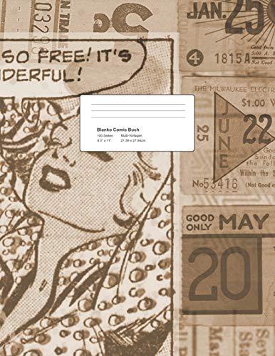 Blanko Comic Buch - Multi-Vorlagen: Storyboard Raster Vorlage zum Zeichnen | 21.59 x 27.94 cm, ca. A4 Heft | 100 Seiten | Kreatives Malbuch für Kinder und Erwachsene | Vintage Softcover