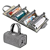 Hanging Roll-Up Makeup Bag / Toiletry Kit / Travel Organizer for Women - 4 Removable Stora...