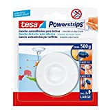 tesa 58029-00021-01 58029-00021-01-Gancho Techo Blanco Powerstrips hasta 1 kg, Standard...