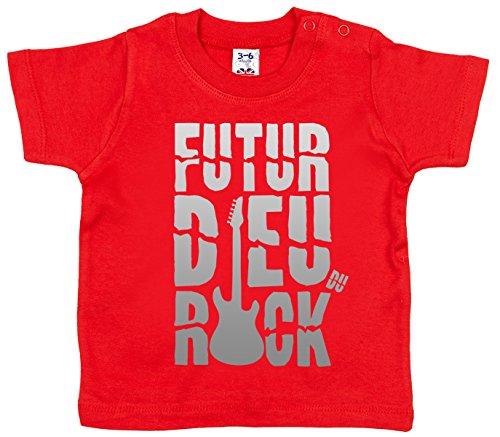 Dirty Fingers Futur Dieu du Rock T-Shirt bébé 18-24 Mois Rouge