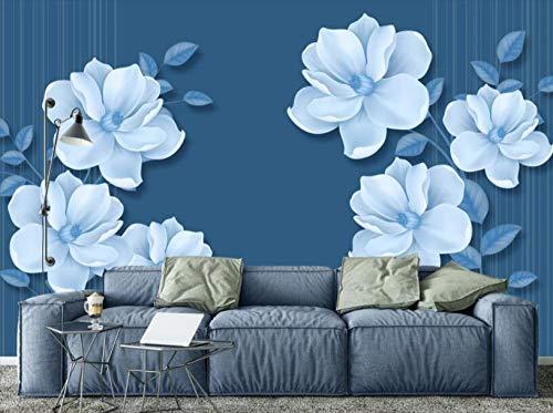 Wandscherm, papierbehang, bloemen, handbeschilderd, fotobehang, op maat gemaakt, voor kinderkamer 150 x 105 cm.