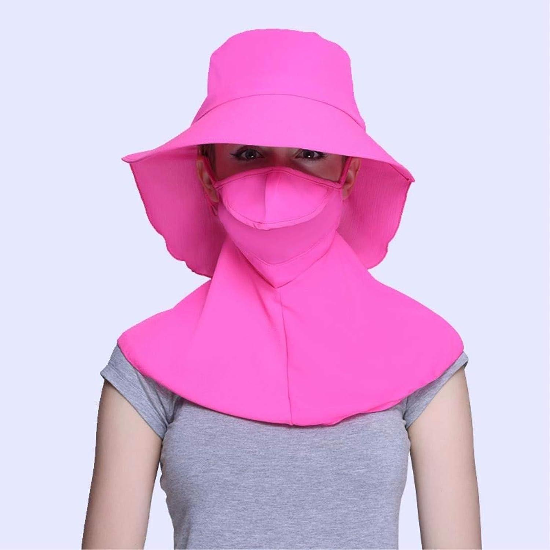 Beach Hat Women's Hats Summer Outdoors AntiUv Bike Caps Visor Caps Face Caps Pink A Summer Sun Hat