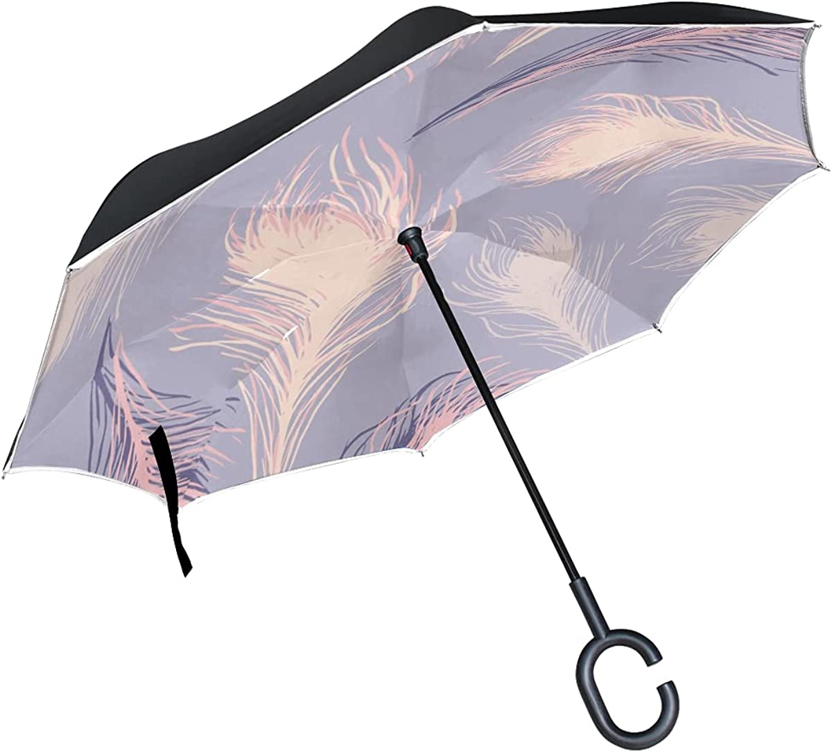 Inverted Umbrella Repeat Soft Windproof revers New product! New type Department store Feathers