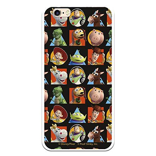 Funda para iPhone 6-6S Oficial de Toy Story Muñecos Toy Story Siluetas Geométricas para Proteger tu móvil. Carcasa para Apple de Silicona Flexible con Licencia Oficial de Disney.
