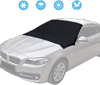 Easycosy Magnetic Front Windshield Sun Shade Blocks UV Rays Sun Visor Protector,Car Windshield Snow Ice Cover,Waterproof Windshield Cover for Winter/Summer,Guard UV Rays,Sun, Snow, ice,fit for Car,