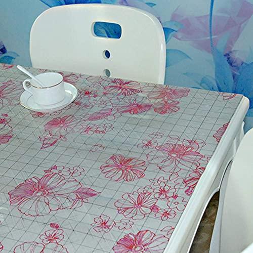 N/K Wohnzimmerzubehör Transparente PVC-Tischdecke aus weichem Glas gefrostet Wasserdicht rutschfest Staubdicht Verdickte Tischdecke Protector-e 90x140cm (35x55inch)