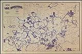 Map of Lake Minnetonka Minnesota Circa 1896 Art Print