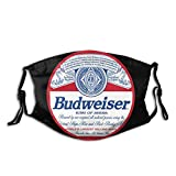 Bud-wei-ser K-ing of Beers Face Mask with 2 Filter Face Protective Activated Carbon Washable Reusable Bandanas Balaclava