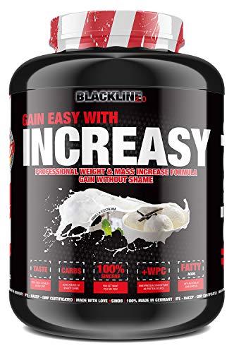 sinob Increasy Weight Gainer Vanille Eis 1 x 3500g. Whey Protein und Kohlenhydrate Pulver für schnelle Gewichtzunahme. Optimal für Muskelaufbau und Masseaufbau.