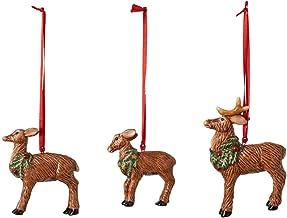 Villeroy & Boch Nostalgic Ornaments Deer Family, Set of 3, Porcelain, White, 7x6cm