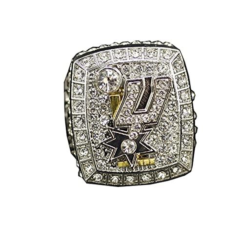 2014 NBA San Antonio Spurs Championship Ring Anillos de Hombre, Championship Anillo de réplica Personalizado Anillos de Diamantes para Hombres,with Box,10