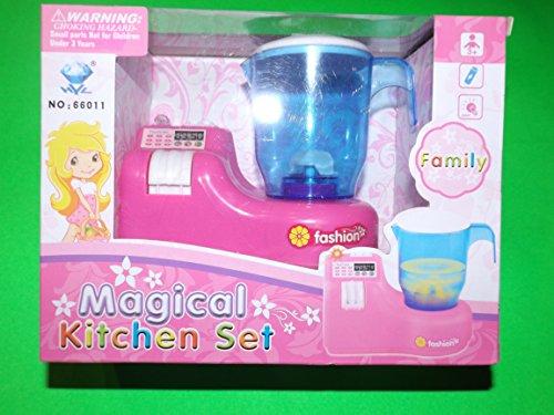 Magical Kitchen Set Batidora de Juguete Rosa con luz y Sonido