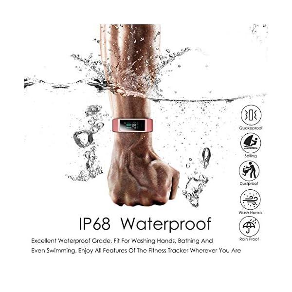 CHEREEKI Pulsera Actividad, Pulsera de Actividad IP68 con Pulsómetro, LCD táctil Pulsera Inteligente Monitor de Calorías… 6