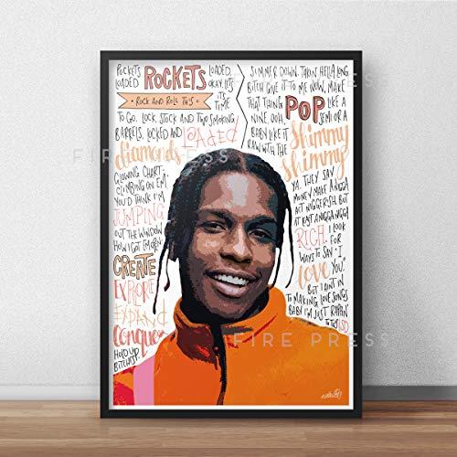 Von ASAP Rocky inspiriertes Poster/Druck