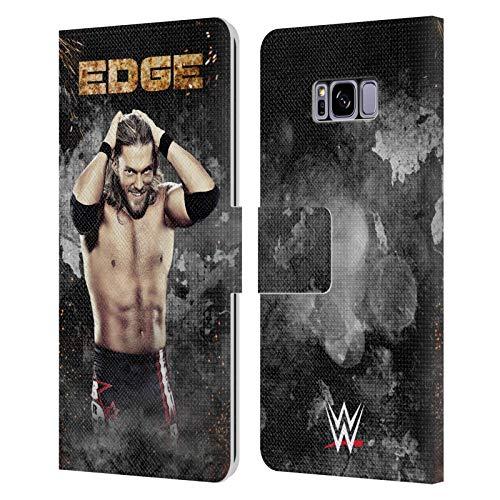 Head Case Designs Oficial WWE Imagen LED Borde Carcasa de Cuero Tipo Libro Compatible con Samsung Galaxy S8+ / S8 Plus