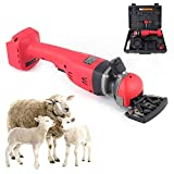 TBVECHI Sheep Shears Rechargeable Electric Sheep Shears Wireless Electric Shearing Machine Brushless Motor High Speed & Low Speed 2200~2400 RPM with 4400mAh Lithium Battery 18V/300W
