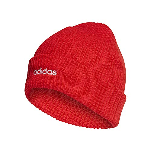 adidas CLSC Beanie Hat, Unisex Adulto, Active Red/White, OSFL
