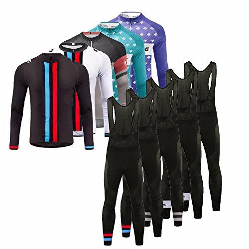 Uglyfrog Fahrradbekleidung Herren Frühling Style Full Zipper Lange Ärmel Radfahren Jersey + Bib Lange Hosen Anzüge Mountainbike-Clothes HHSL03