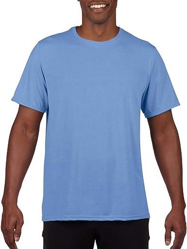 Gildan - Camiseta Deportiva Transpirable de Manga Corta para Hombre - 100% poliéster