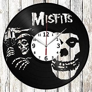 Misfits Vinel Record Wall Clock Home Art Decor Unique Design Original Gift Handmade Vinyl Clock Black Exclusive Clock Fan Art