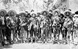 Francisco Pancho Villa N(1878-1923) Mexican Revolutionary Leader Photographed Wearing Bandoliers With His Military Staff During The Mexican Revolution C1913 Poster Print by (18 x 24)