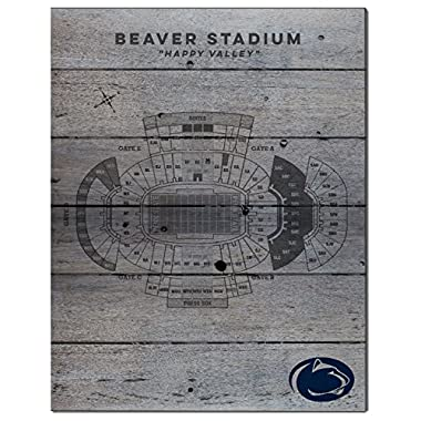 KH Sports Fan 16  x 20  Penn State Nittany Lions Seating Chart Collage Pallet Pride Plaque